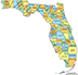 Map of Florida by County